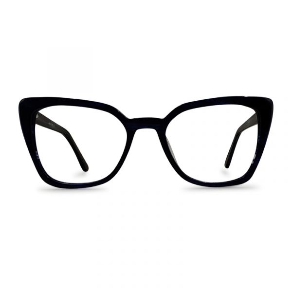 Women Cat Eye Deep Blue Eyeglass