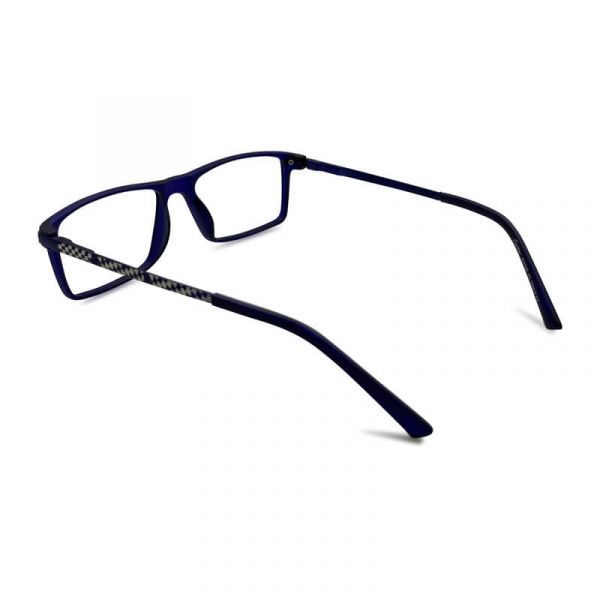 Mat Blue Rectangle Eyeglass